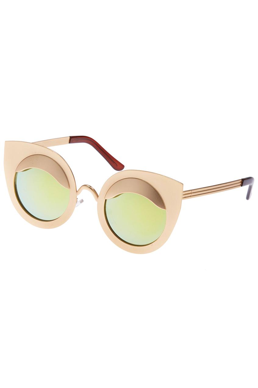 ROMWE | ROMWE Gold Cat-eyed Sunglasses, The Latest Street Fashion