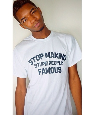 top kingsley famous people stop stupid people quote on it mens t-shirt new years resolution t-shirt