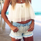 Fashion chiffon crop top|disheefashion