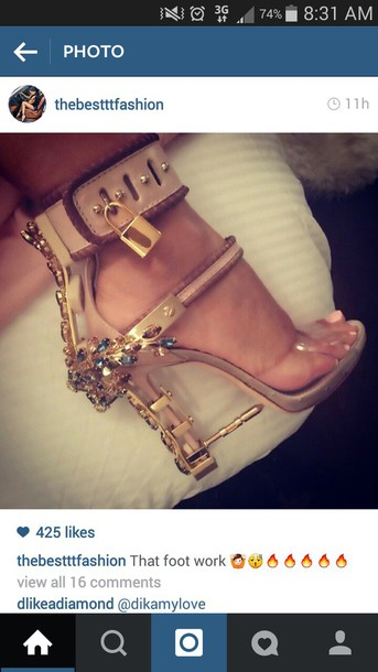 shoes nude bling