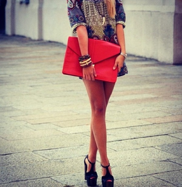 bag clutch patterned dress dress