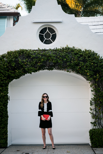 miami + dallas based lifestyle and fashion blog blogger dress bag sunglasses red bag black dress mini dress