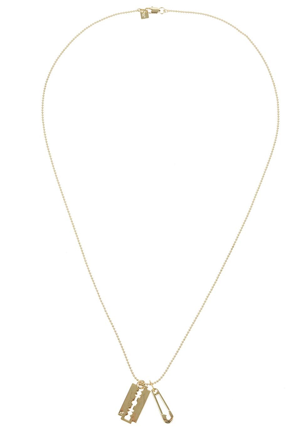 Gold razor necklace  - Women