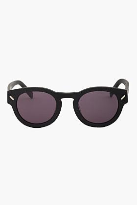 Kenzo Matte Black Round Sunglasses for men   SSENSE