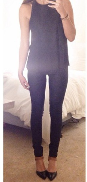blouse black blouse plain blouse plain tshirt plain shirt black t-shirt black shirt short sleeve