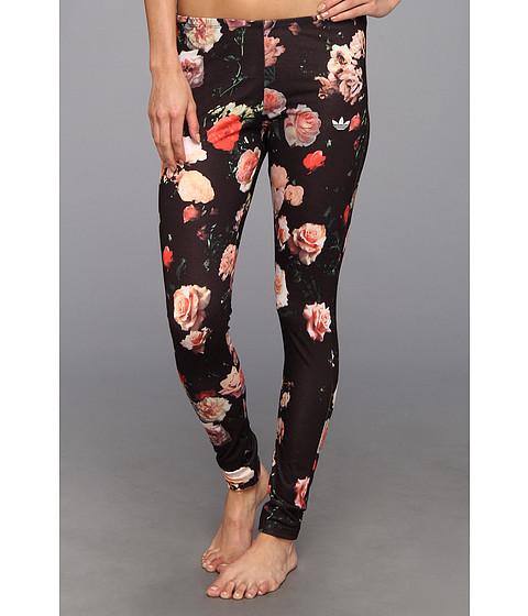 adidas Originals New Trefoil Leggings in Rose Print Black/Rose Print - Zappos.com Free Shipping BOTH Ways