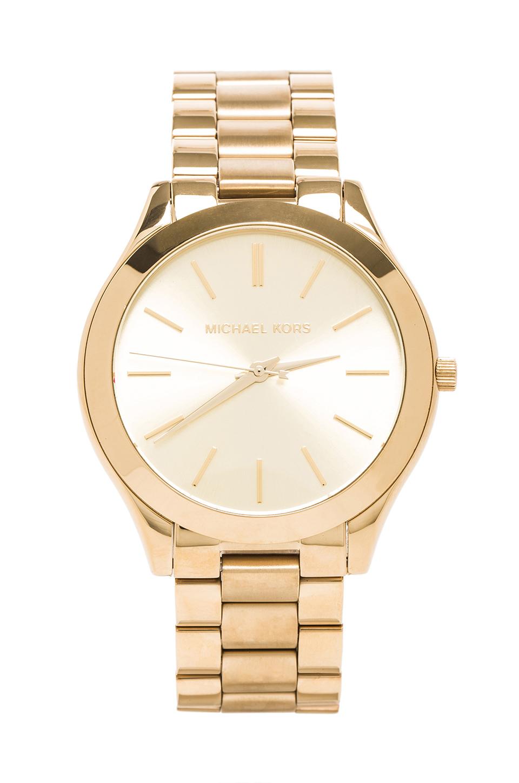 Michael Kors Slim Classic Watch in Gold | REVOLVE