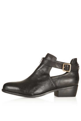MONTI Cut Out Leather Boots - Boots  - Shoes  - Topshop