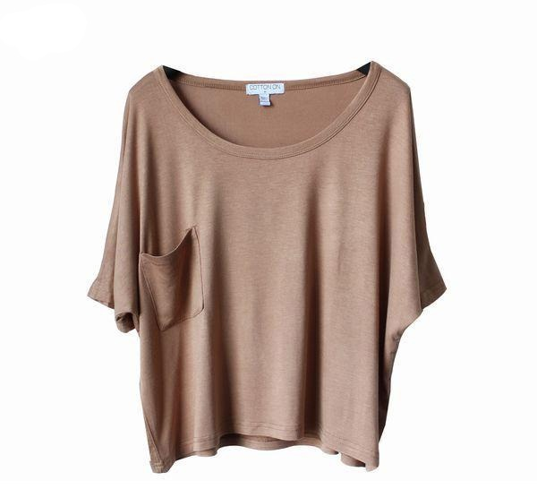 Fashion 2012 spring and summer big pocket loose short design short sleeve Women t shirt-inT-Shirts from Apparel & Accessories on Aliexpress.com