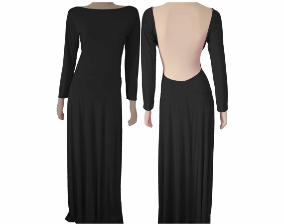 BOXING Day SALE Backless Dress Maxi Evening Gown Long by EKshop