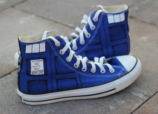 shoes converse doctor who vans sneakers kicks high top sneakers high top converse blue sneakers adidas nike hipster menswear