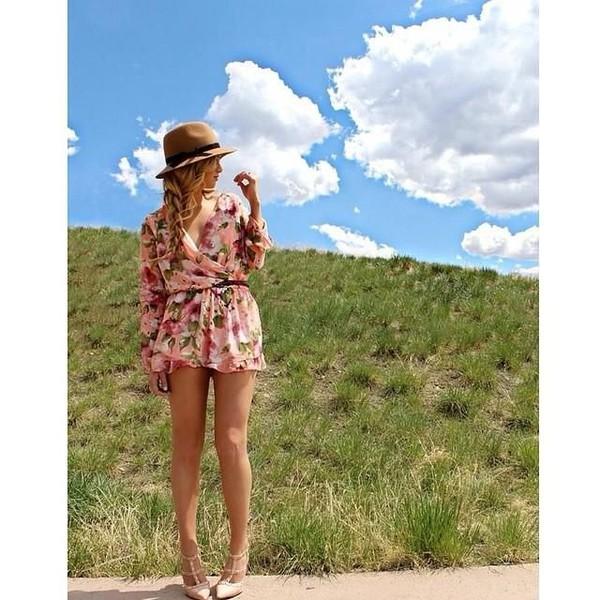 printed dress summer dress floral dress floral romper dress