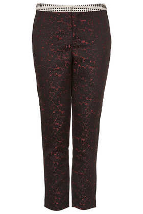 Mix and Match Jacquard Trousers - Cigarette & Tapered Trousers - Trousers  - Clothing - Topshop