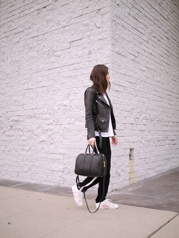 stop it right now jacket tank top pants shoes bag