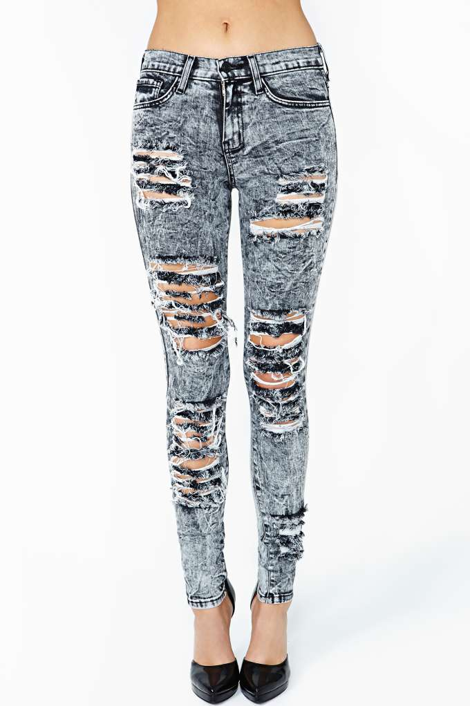 Acid Rip Skinny Jeans  in  Clothes at Nasty Gal