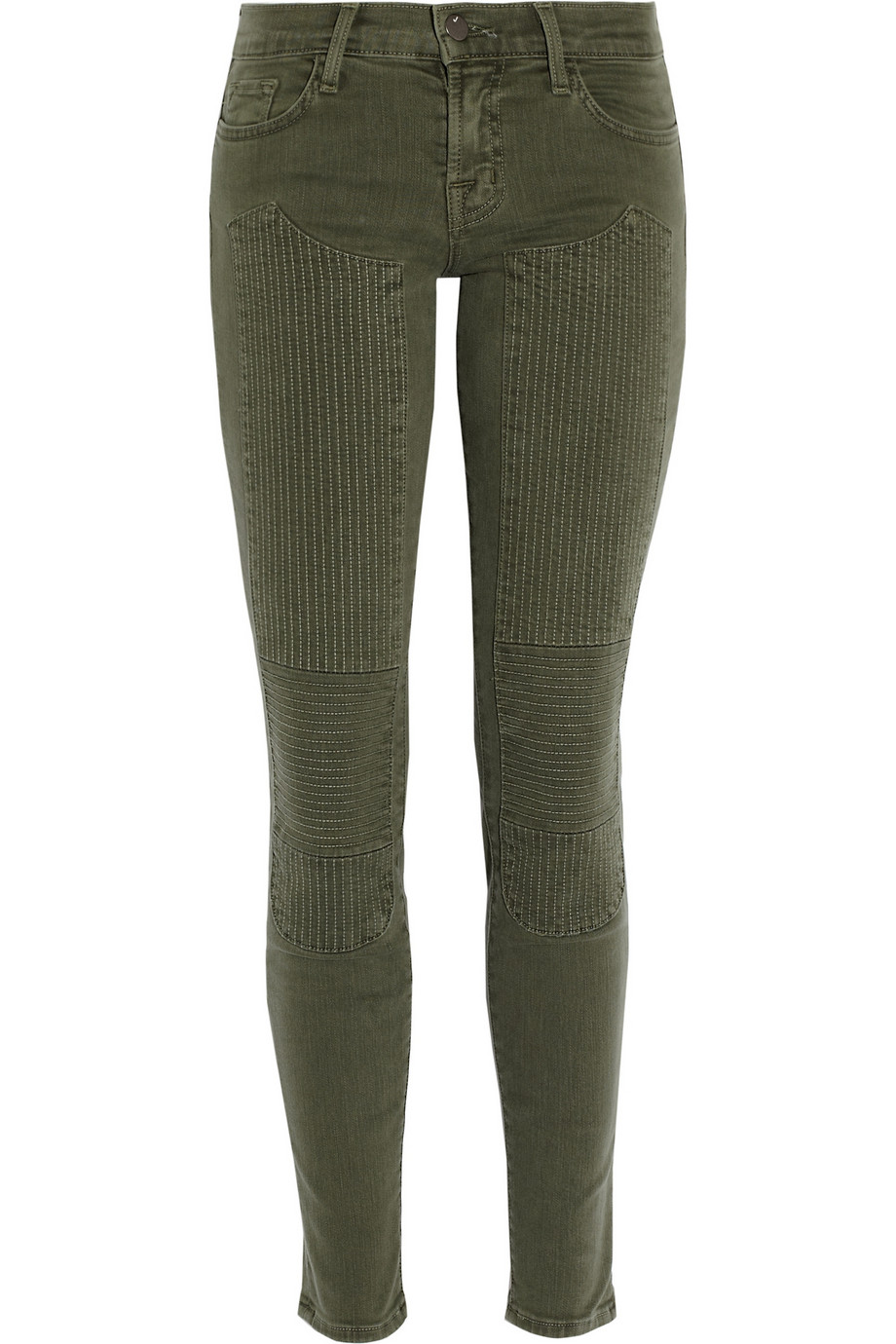 Roz moto-paneled mid-rise skinny jeans | J Brand | THE OUTNET