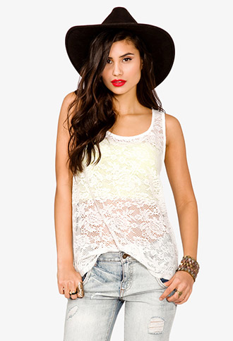 Crocheted Lace Tank | FOREVER21 - 2020908453