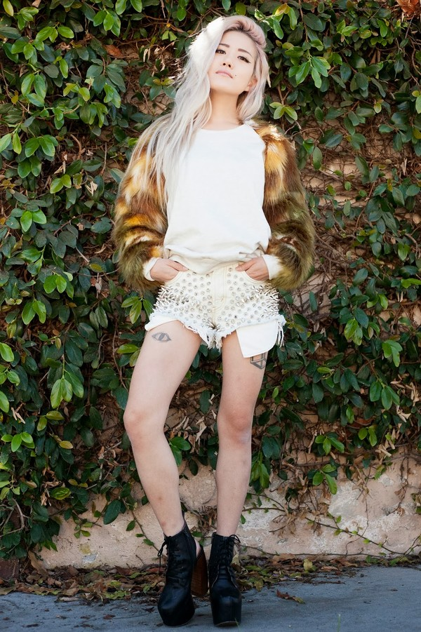 feral creature sweater shorts shoes