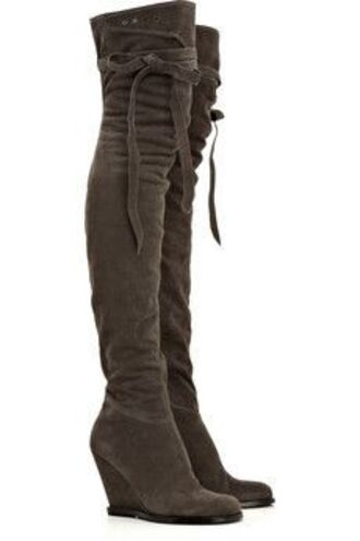 shoes overknee wedge boots wedges brown tigh high boots