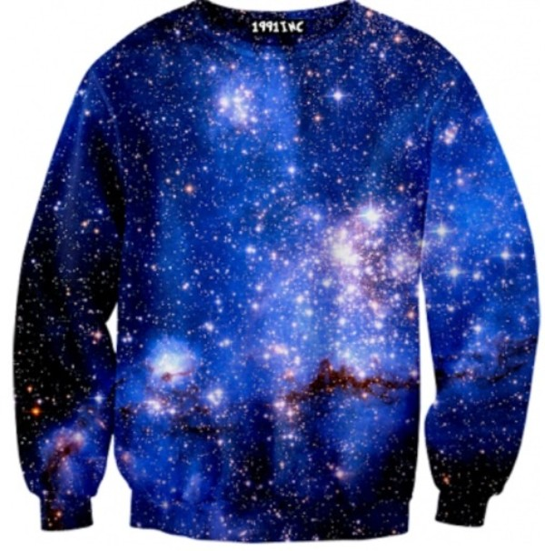 sweater sweatshirt galaxy print