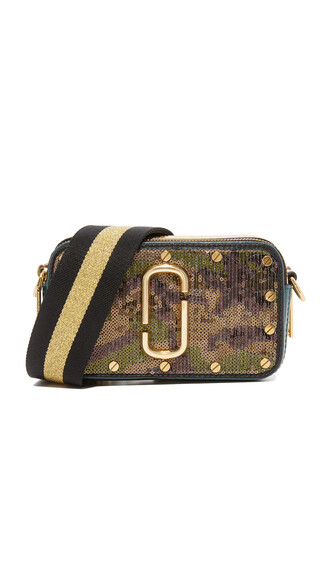 bag green sequins army green