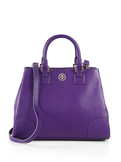 Tory Burch - Robinson Triangular Leather Tote - Saks.com