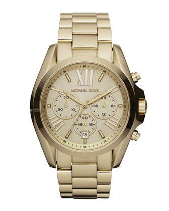 Michael Kors Mid-Size Bradshaw Chronograph Watch, Golden - Michael Kors