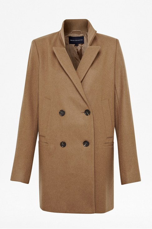 Nico Wool-Blend Collared Coat - Jackets & Coats - French Connection