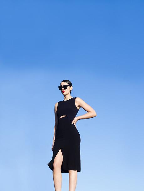 fashion nerdic blogger sunglasses dress jewels