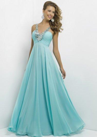 Blush 9777 Aqua Long Pleated Bust Beaded V Neck Evening Dress [Blush 9777 Aqua] - $178.00 : Prom Dresses 2014 Sale, 70% off Dresses for Prom
