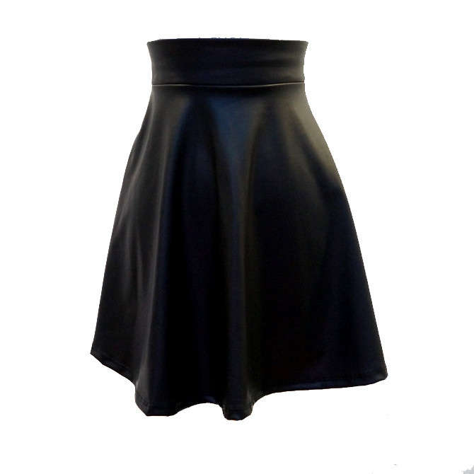 Faux Leather Circle Skirt   Affordable Junior Clothing & Plus Sized Dresses   Shimmer