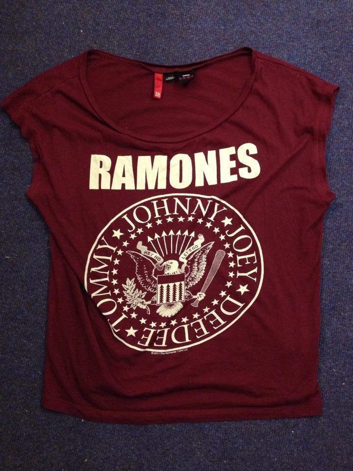 H&M Ramones T-shirt UK 10 | eBay