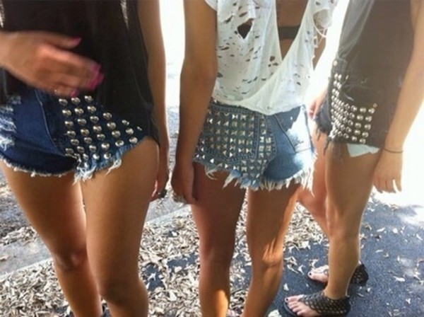 shorts denim spikes shorts with spikes cut off shorts
