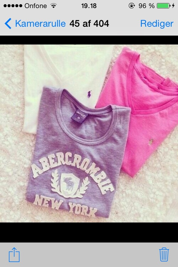 blouse ambercrombie grey pink white t-shirt