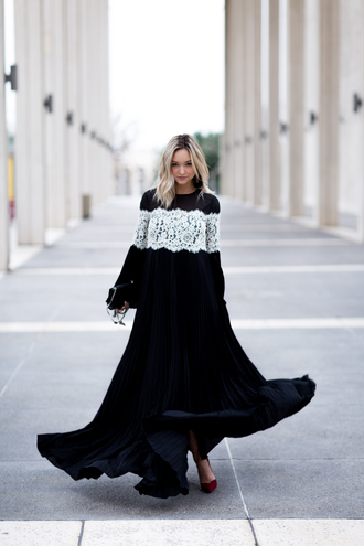 late afternoon blogger dress shoes jewels bag maxi dress black dress