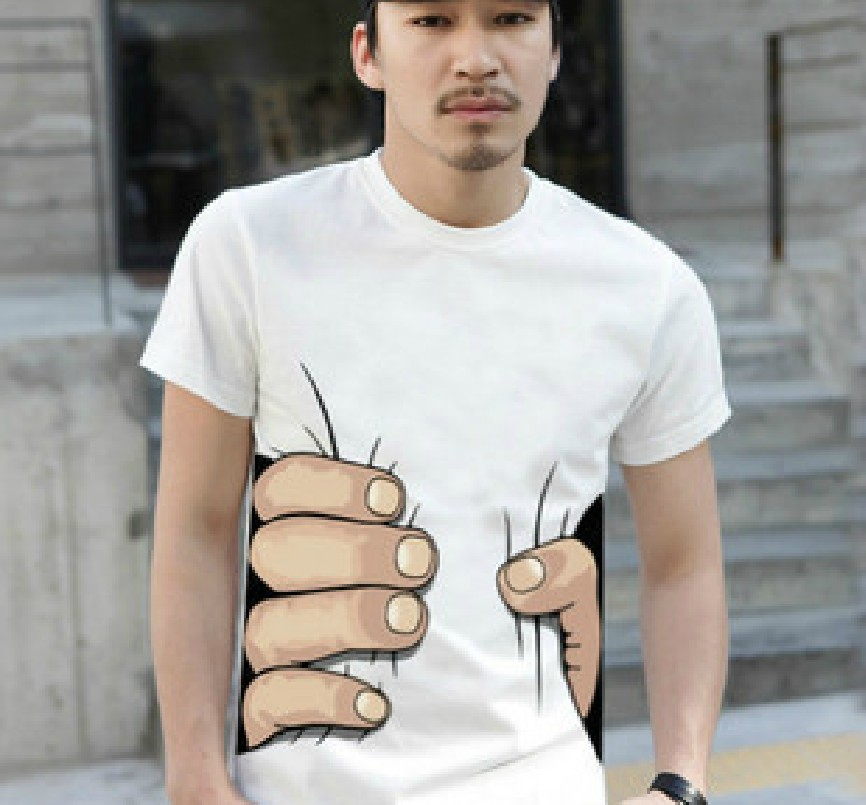 New Fashion 3D Visual Take Hold of You Boysround Neck Hands Tee Shirt   eBay