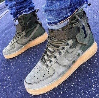 shoes olive green airforce 1 nike
