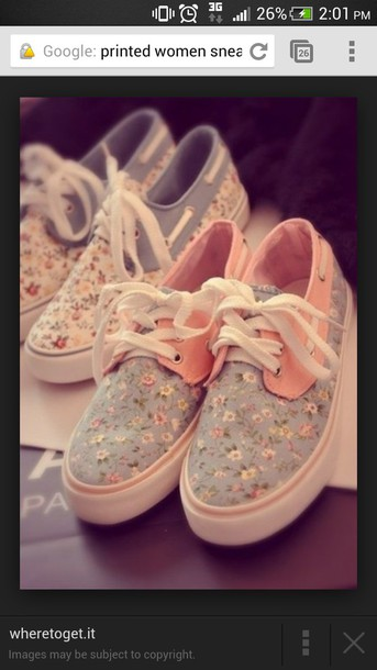 shoes floweral print