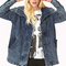 Throwback longline denim jacket | forever21 - 2000065928