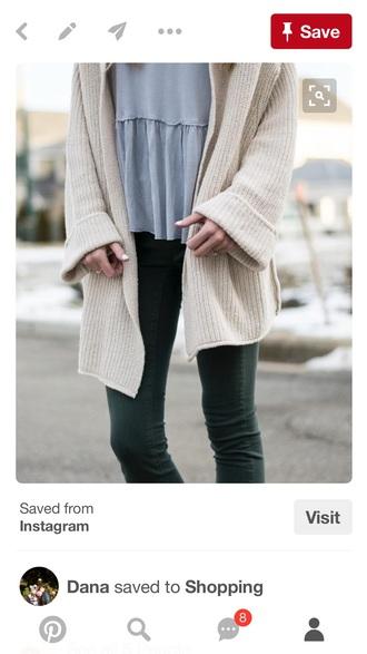 sweater cotton knit cream sweater
