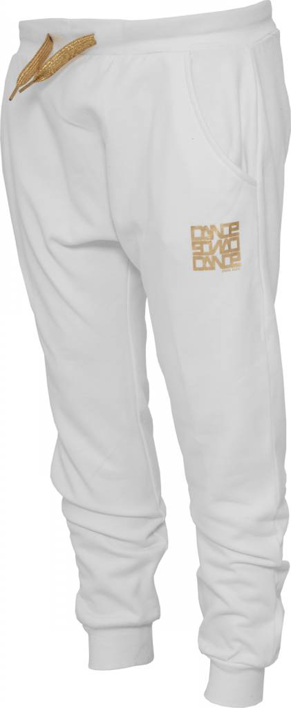 Urban Dance Pants 3/4 White/ Gold - Urbanclassics-shop.nl