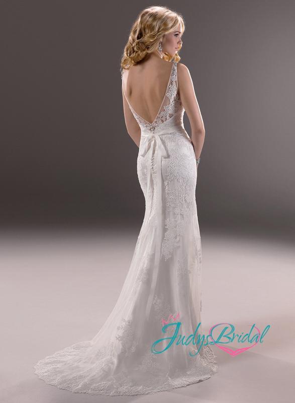 JW13278 sexy deep v back lace sheath/mermaid wedding dresses |JW13278| :