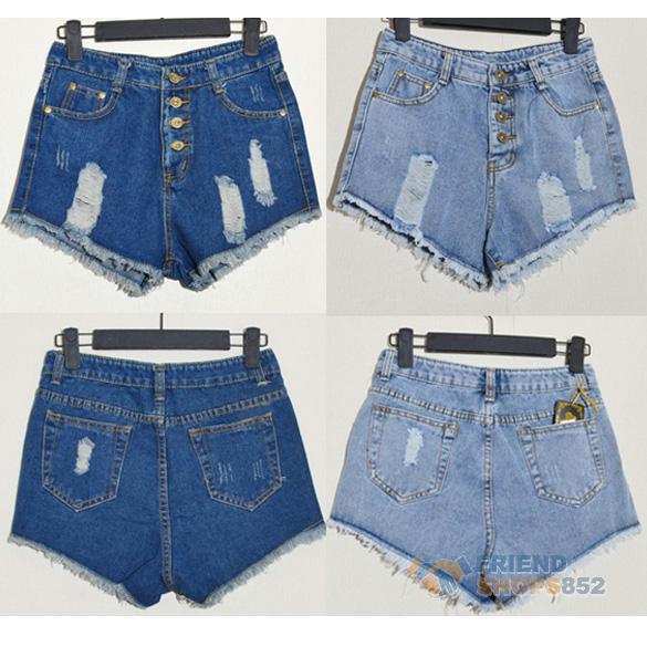 Fashion Women Vintage Denim High Waist Blue Jean Shorts Hot Pants s M L F8S   eBay