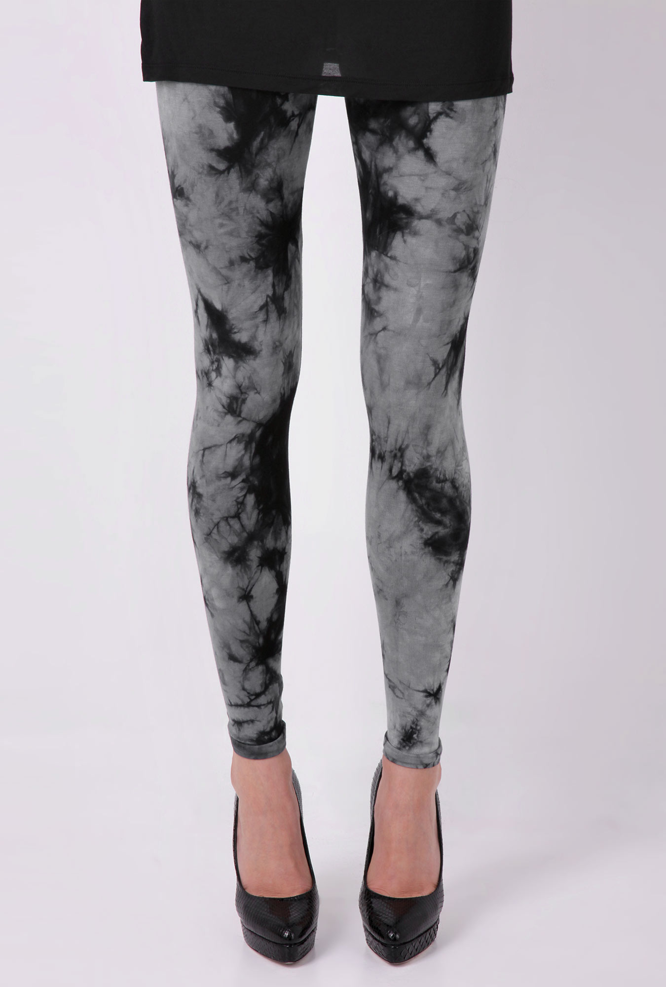 Black Tie Dye Leggings The Else