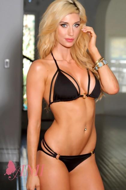 Black Sexy O Ring Accent Strappy Pucker Back Bikini
