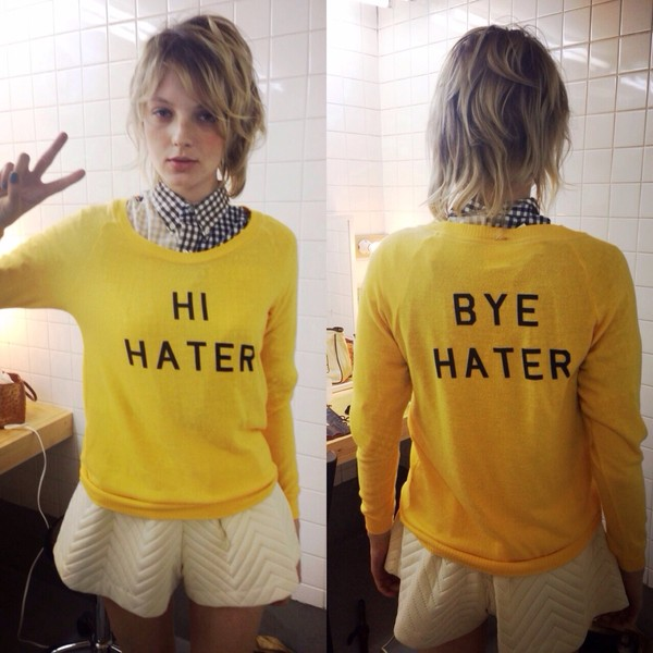 sweater yellow hi hater by hater hater