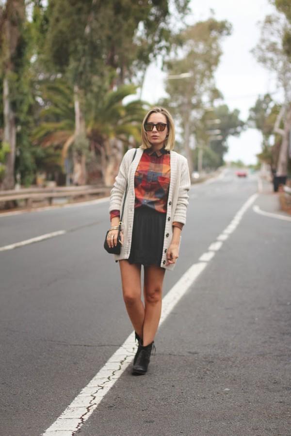 my showroom skirt sweater shirt shoes jewels sunglasses