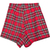 Red High Waist Plaid Shorts - Sheinside.com