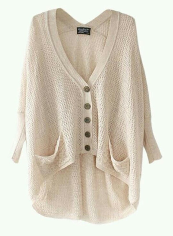 sweater oversized sweater oversized cardigan knitted sweater cream sweater