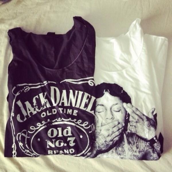 tank top jack daniels shirt